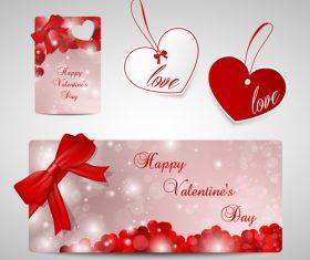 Creative Valentines day label design vector