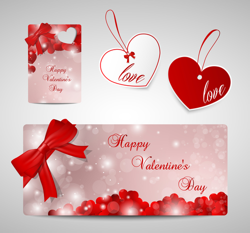 Creative Valentines day label design vector