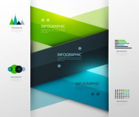 Crossed diagonal bars infographic template design vector