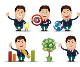 Cute people businessman vector