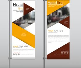 Dark red and yellow commercial vertical banner vector