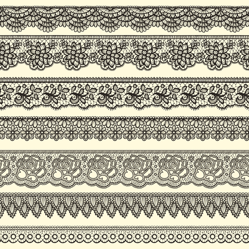 Decorative borders stylized like laces vector