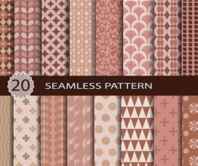 Decorative seamless pattern set background vector