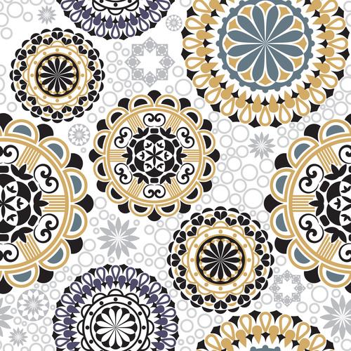 Different color flowers decorative vector background
