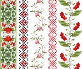 Different ornament custom patterns vector