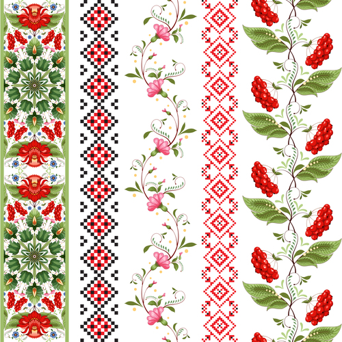 Different ornament custom patterns vector