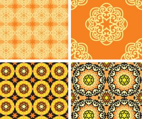 Different style floral pattern decoration background vector