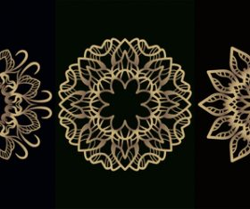 Different style mandala decoration vector