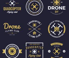 Drone badges vector