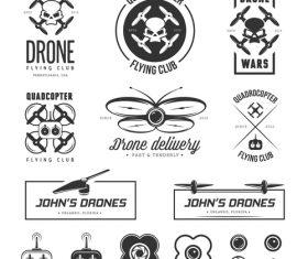 Drone club logo vector