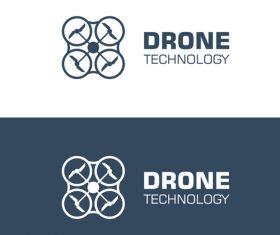Drone logo banner vector