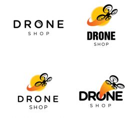 Drone shop logo vector