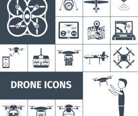 Drones vector icons