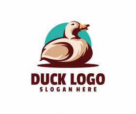 Duck logo vector
