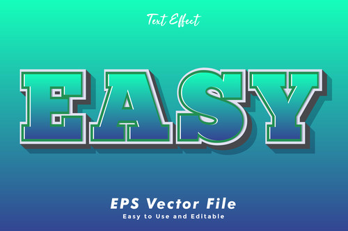 Easy 3d text style effect vector