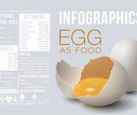 Egg as food infographic vector