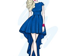 Elegant and fashionable women's clothing and accessories vector