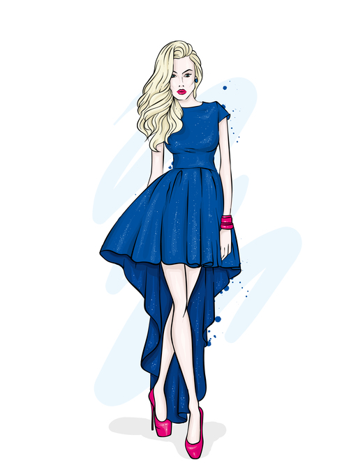 Elegant and fashionable womens clothing and accessories vector