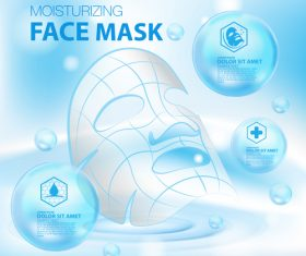 Face mask advertisement vector