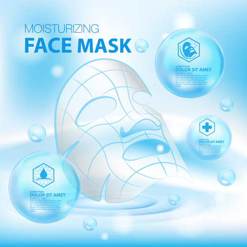 Face mask advertisement vector