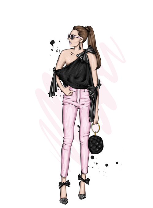 Fashion clothing and accessories vector