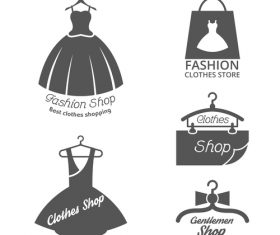 Fashion shop emblem vector