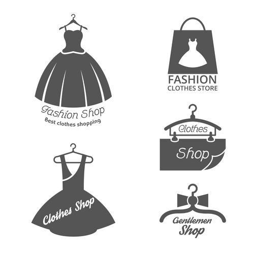 Fashion shop emblem vector