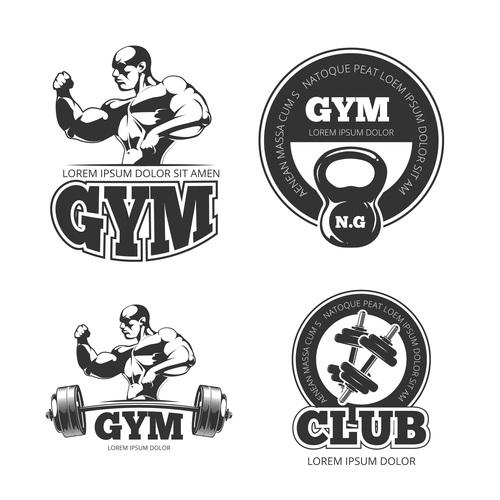 Fitness club emblem vector