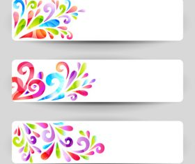 Flower abstract background banner vector