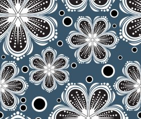 Flower different colors decorative vector background