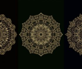 Flower style mandala decoration vector