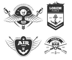 Force and air emblem vector
