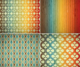 Four different patterns background vector