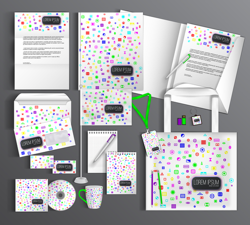 Fresh layout corporate identity collection vector