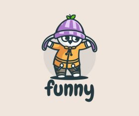 Funny bunny cartoon vector