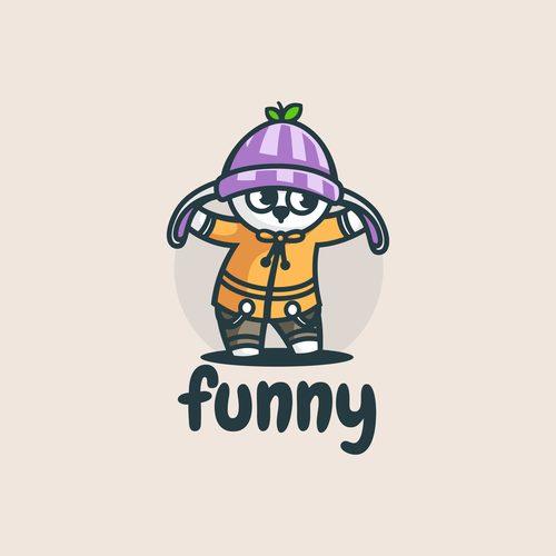 Funny bunny cartoon vector