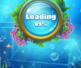 Game loading page design vector
