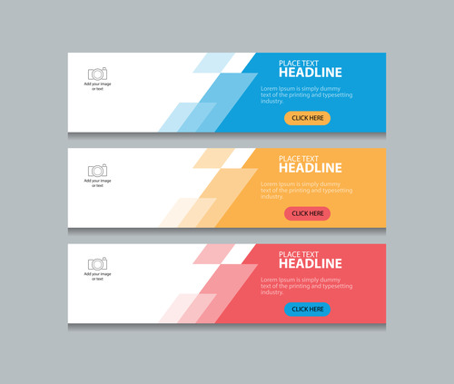 Geometric decorative colorful banner vector