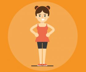 Girl sport icon vector