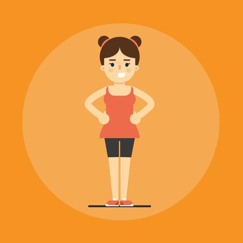 Girl sport icon vector