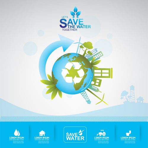 Global ecology infographic vector