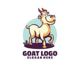 Goat fun logo vector