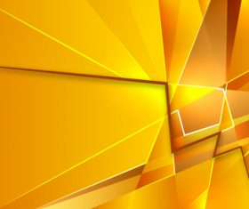 Gold geometric abstraction background vector