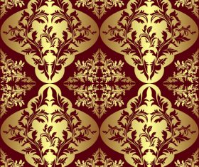 Golden decorative pattern vector