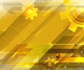 Golden gear background vector