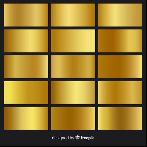 Golden gradient pack vector