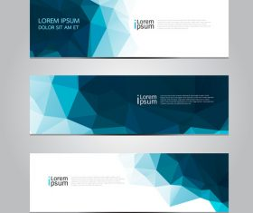 Gradient banner blue vector