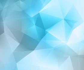 Gradient blue geometric abstract background vector