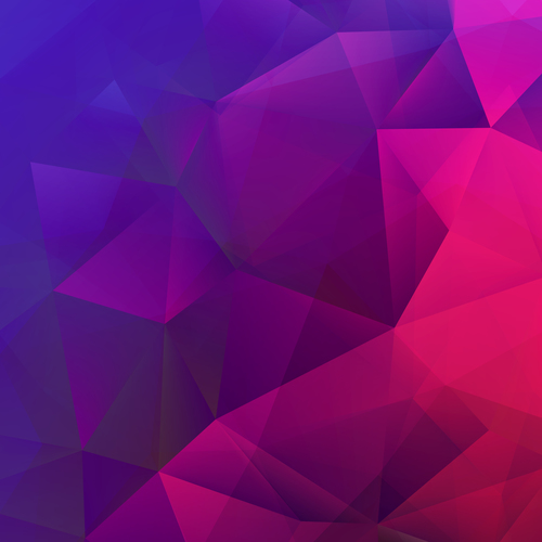 Gradient geometric abstract background vector