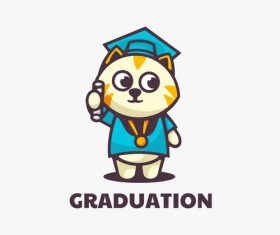 Graduation cartoon vector
